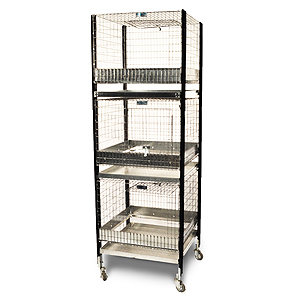 (3)36X24 TWO COMP CAGE STACK 3C-3